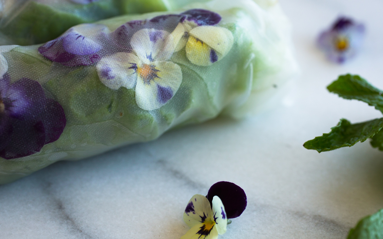 Cooking with edible flowers garden fresh summer rolls more pass make your own summer rolls mightylinksfo