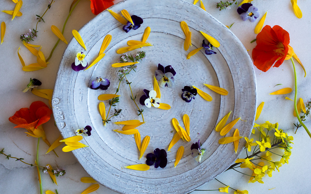 Cooking With Edible Flowers Garden Fresh Summer Rolls More Pass
